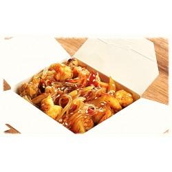 Морепродукты с  рисовой лапшой и овощами