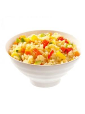 Тяхан с яйцом и овощами